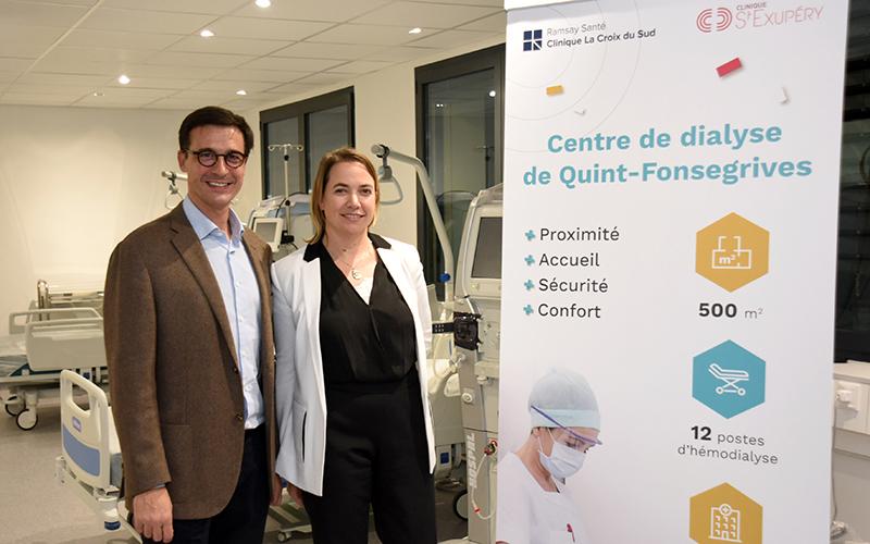 Vincent Lacombe et Claire Grenouillet à l'extension